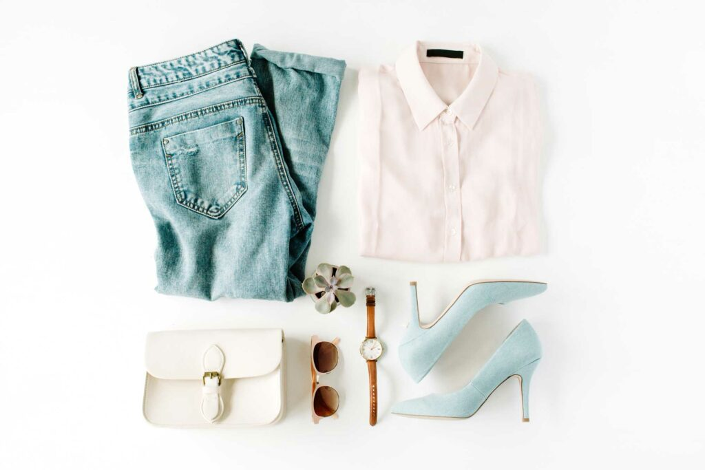 clothing flat lay